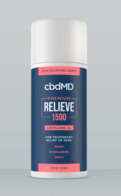 cbdMD | cbdMD RELIEVE PAIN RELIEF W/ LIDOCAINE | SPRAY-ON & ROLLERS | 3 LEVELS |