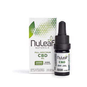 NuLeaf Naturals FULL SPECTRUM CBD OIL | HIGH GRADE HEMP EXTRACT | 300mg | 50mg per ml | 5ml Bottles