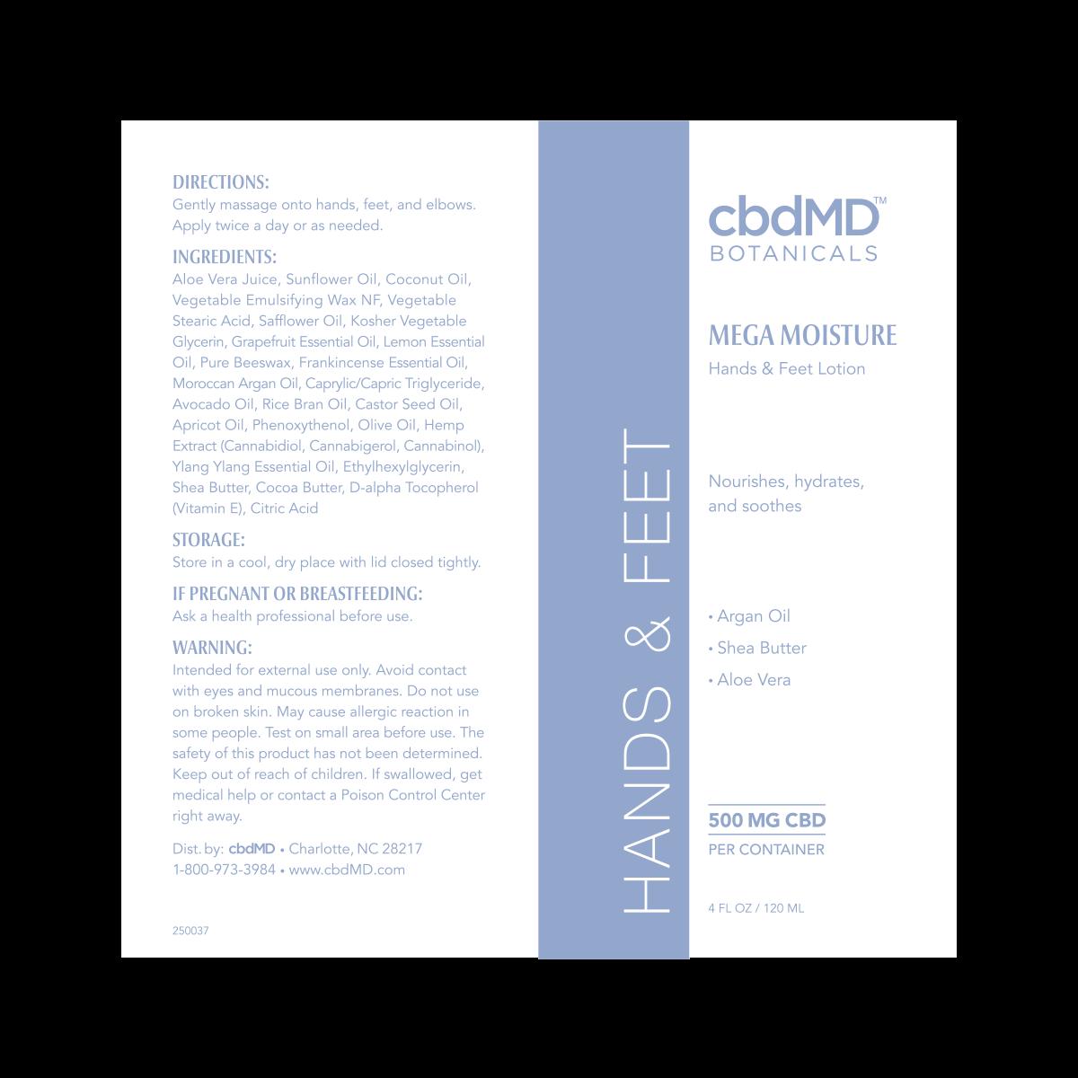 cbdMD | CBDmd | CBD 4 HANDS  & FEET  | 500mg | 4 Oz TUBE |