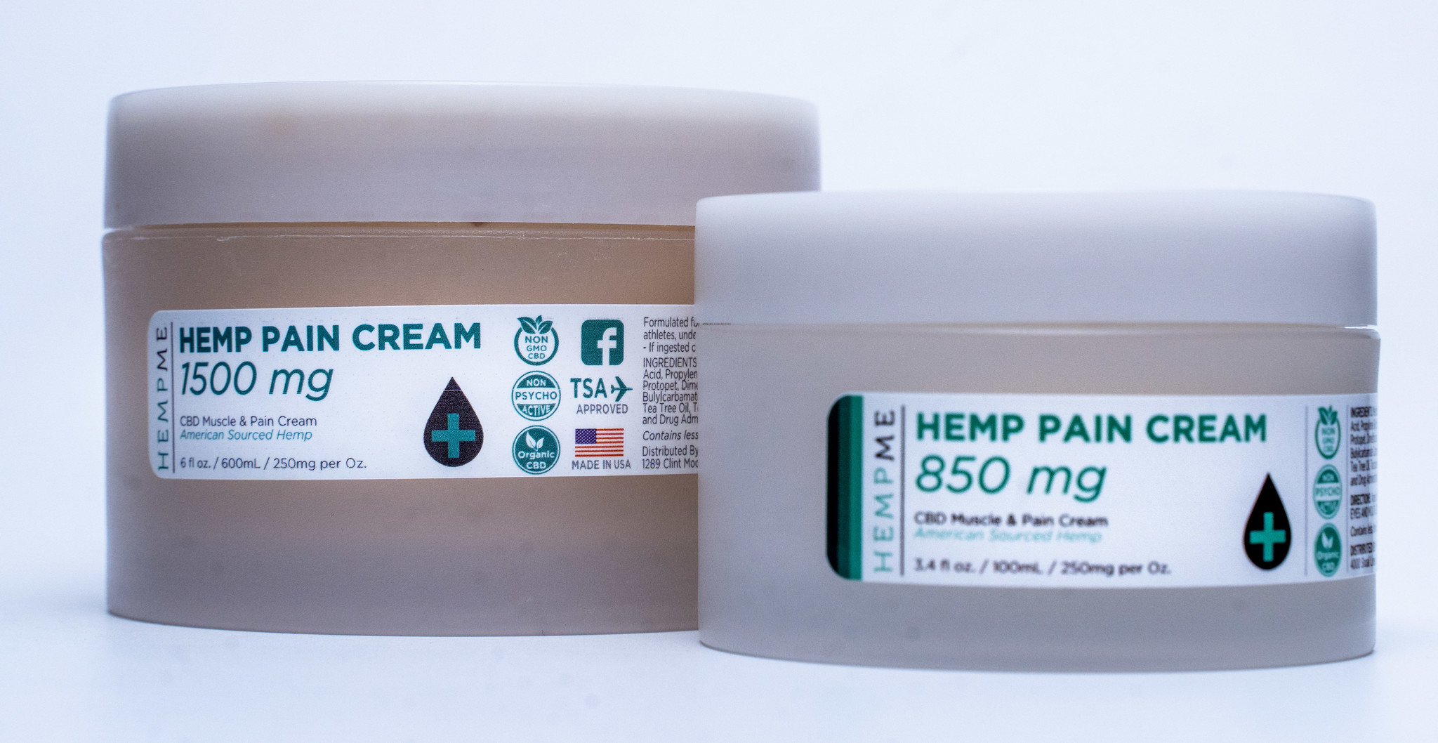 HempMe   HempME   CBD PAIN & REPAIR CREAM   850mg to 1500mg  