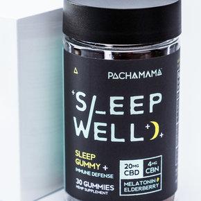 PachaMama CBD   SLEEP GUMMIES   20mg CBD   4mg CBN   2mg MELATONIN   35mg ELDERBERRY   30 COUNT