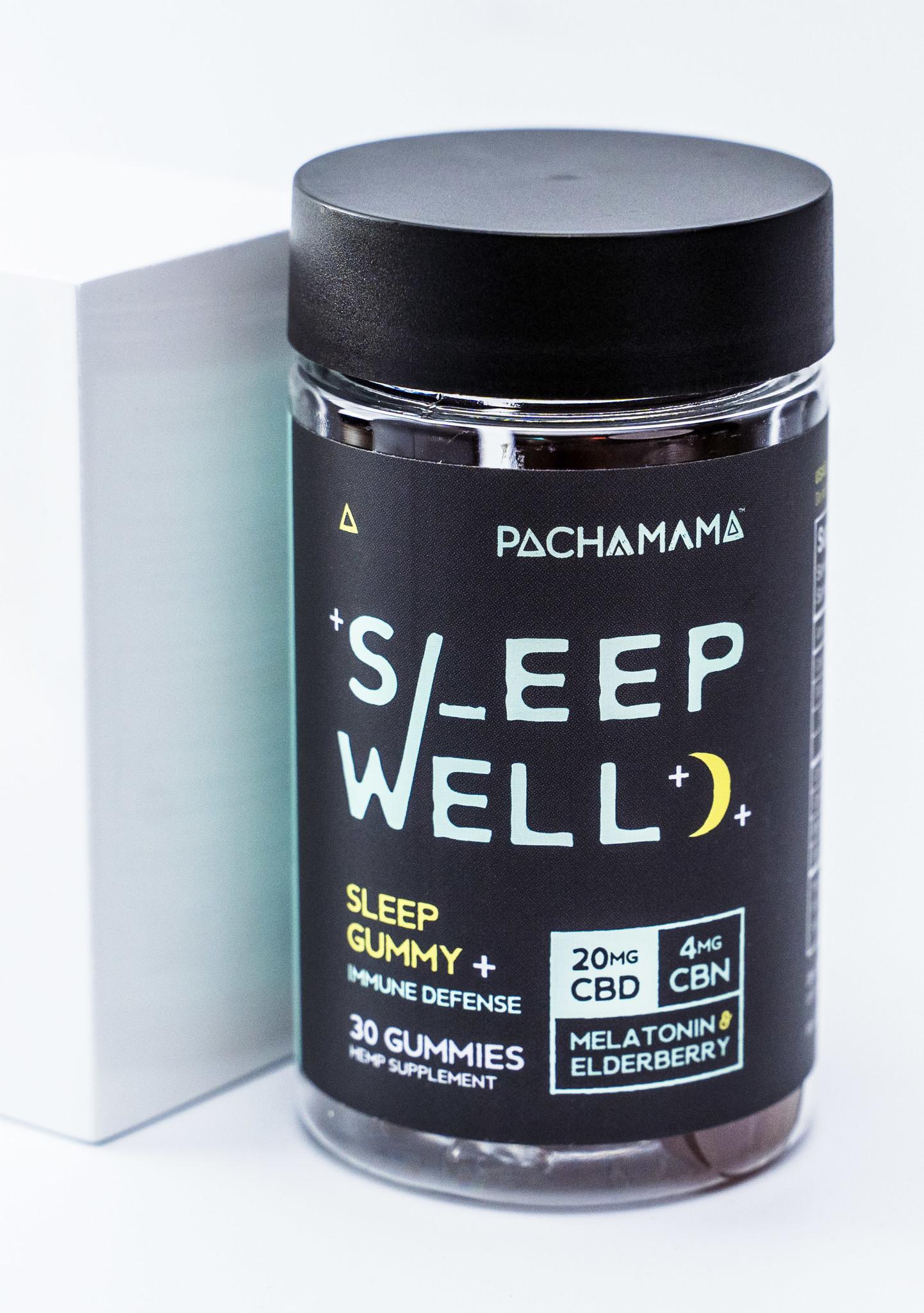 PachaMama CBD | SLEEP GUMMIES | 20mg CBD | 4mg CBN | 2mg MELATONIN | 35mg ELDERBERRY | 30 COUNT