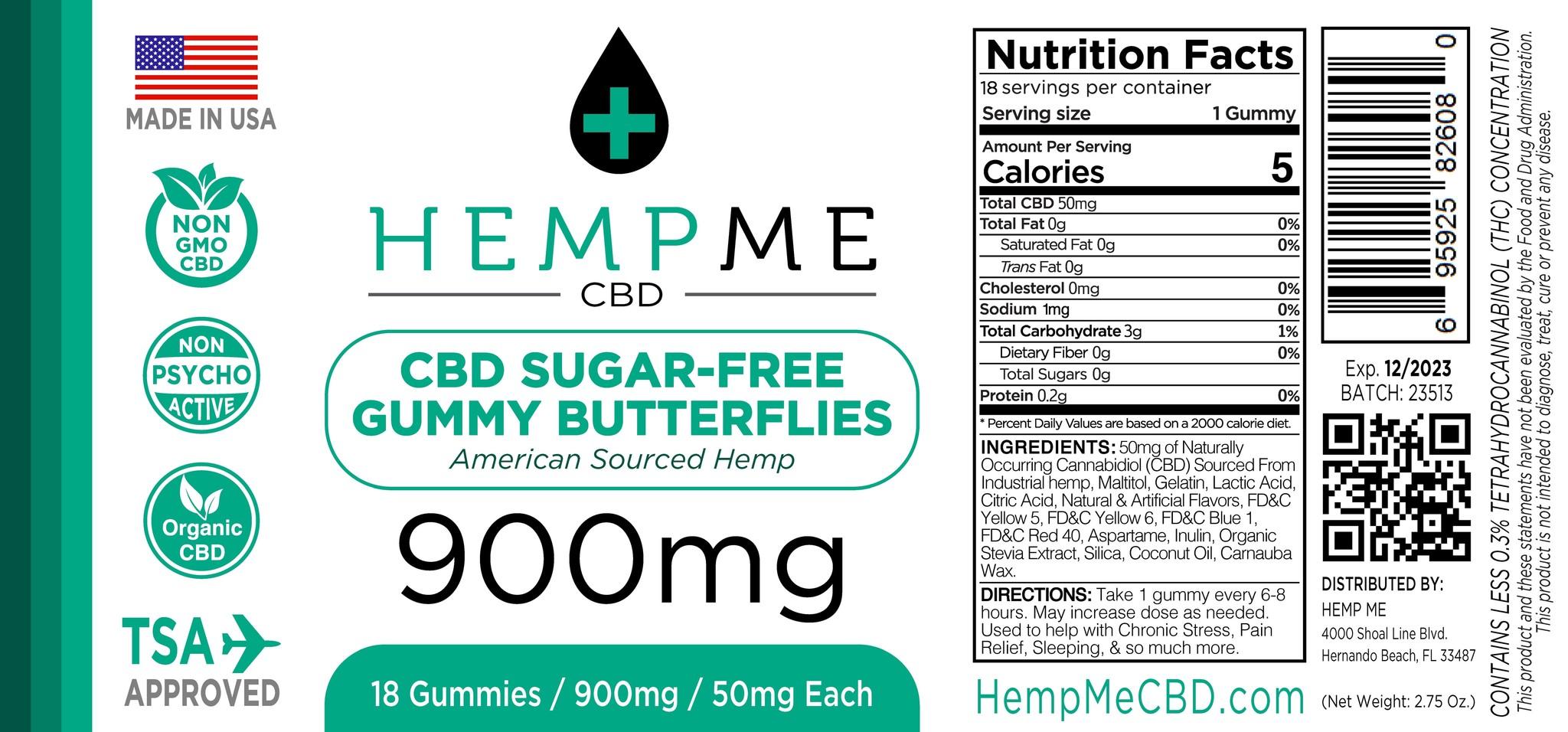 HempMe | HempME | ORGANIC CBD GUMMIES | 50mg per GUMMY |