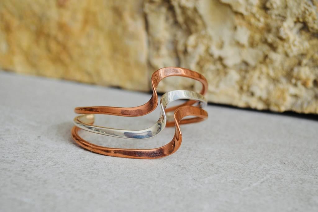 Copper & SIlver bracelet