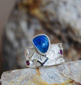 Opal w/Tourmaline - size 9