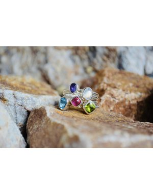 Multi Stone Ring - size 9
