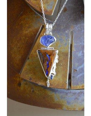 Boulder Opal & Amethyst