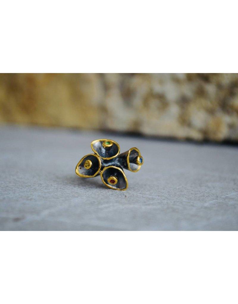 Multi tourmaline ring - size 7