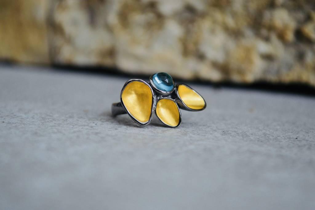London Blue Topaz Ring - size 6.5