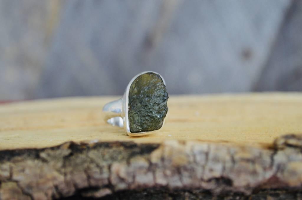Moldavite Ring - size 7.5