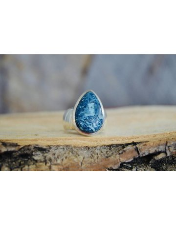 Azurite Malichite Ring - size 8