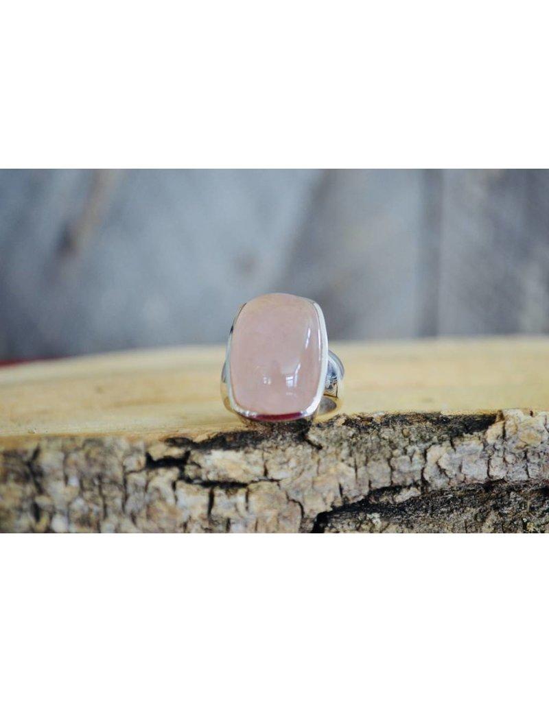 Rose Quartz Ring - size 7