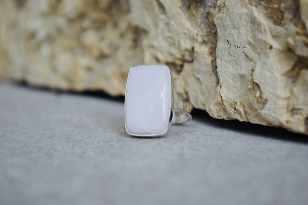 Pink Argonite Ring - size 10