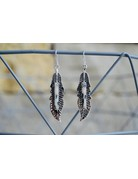 Wild Horse Turq. Feather Earrings