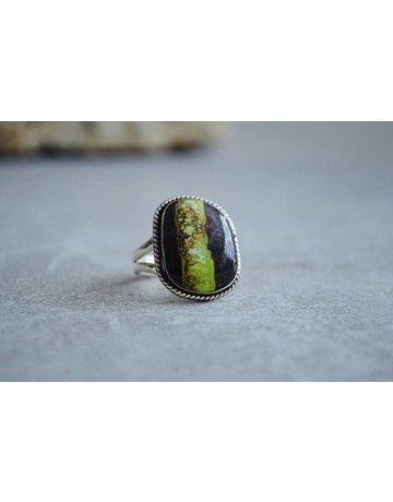 Gaspeite Ring - size 8