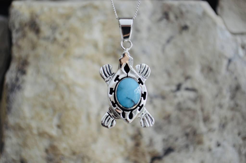 Turquoise Turtle Pendant