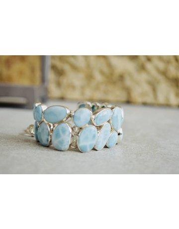 Larimar Double Stack Bracelet