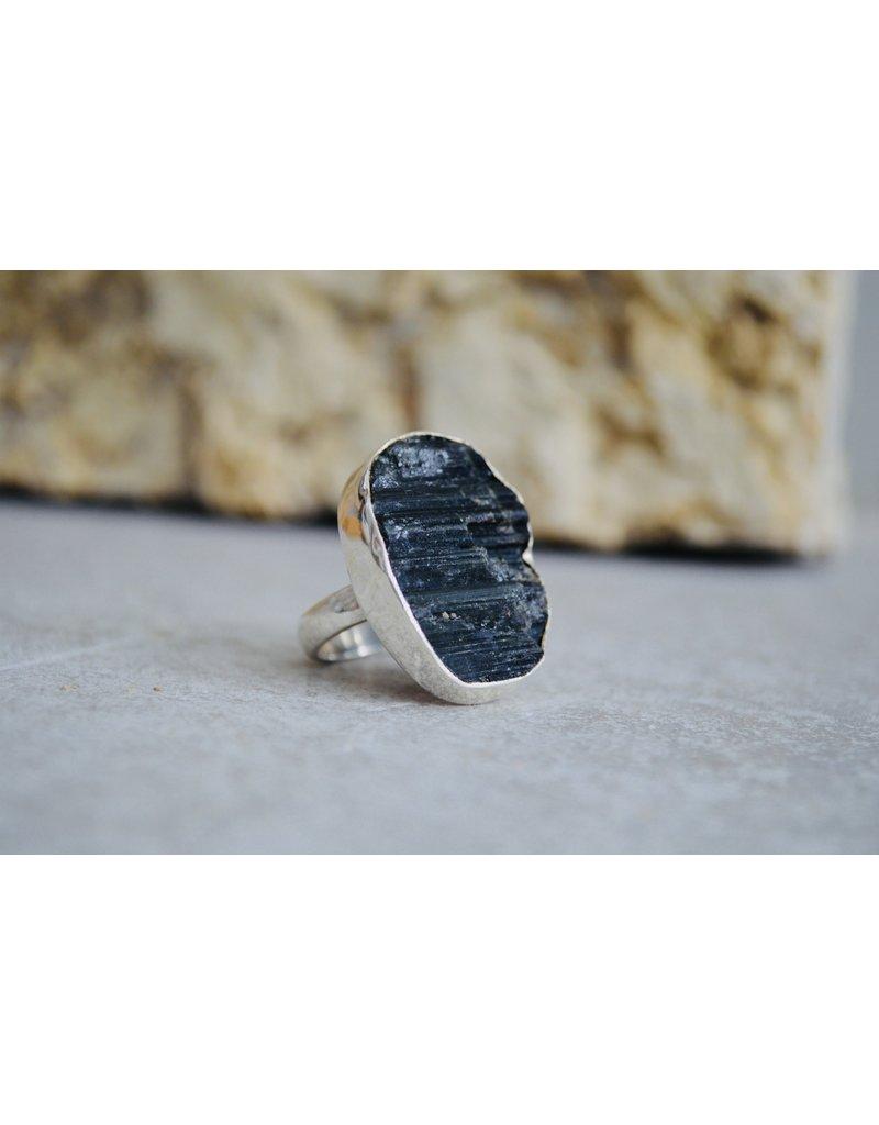 Green Tourmaline Ring - size Adj
