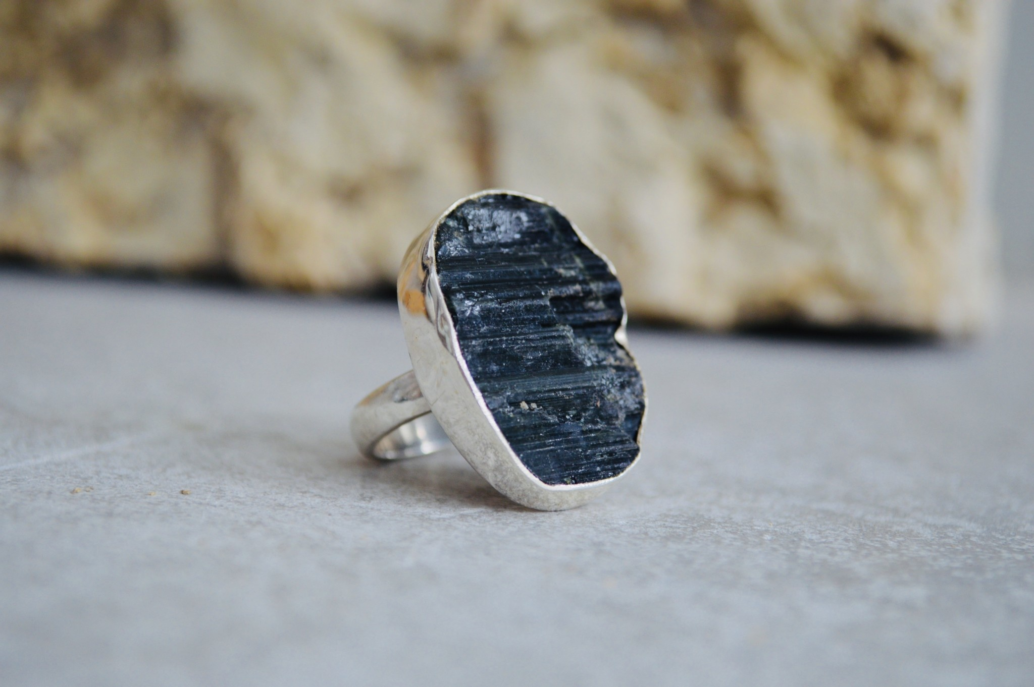 Green Tourmaline Ring - size Adj