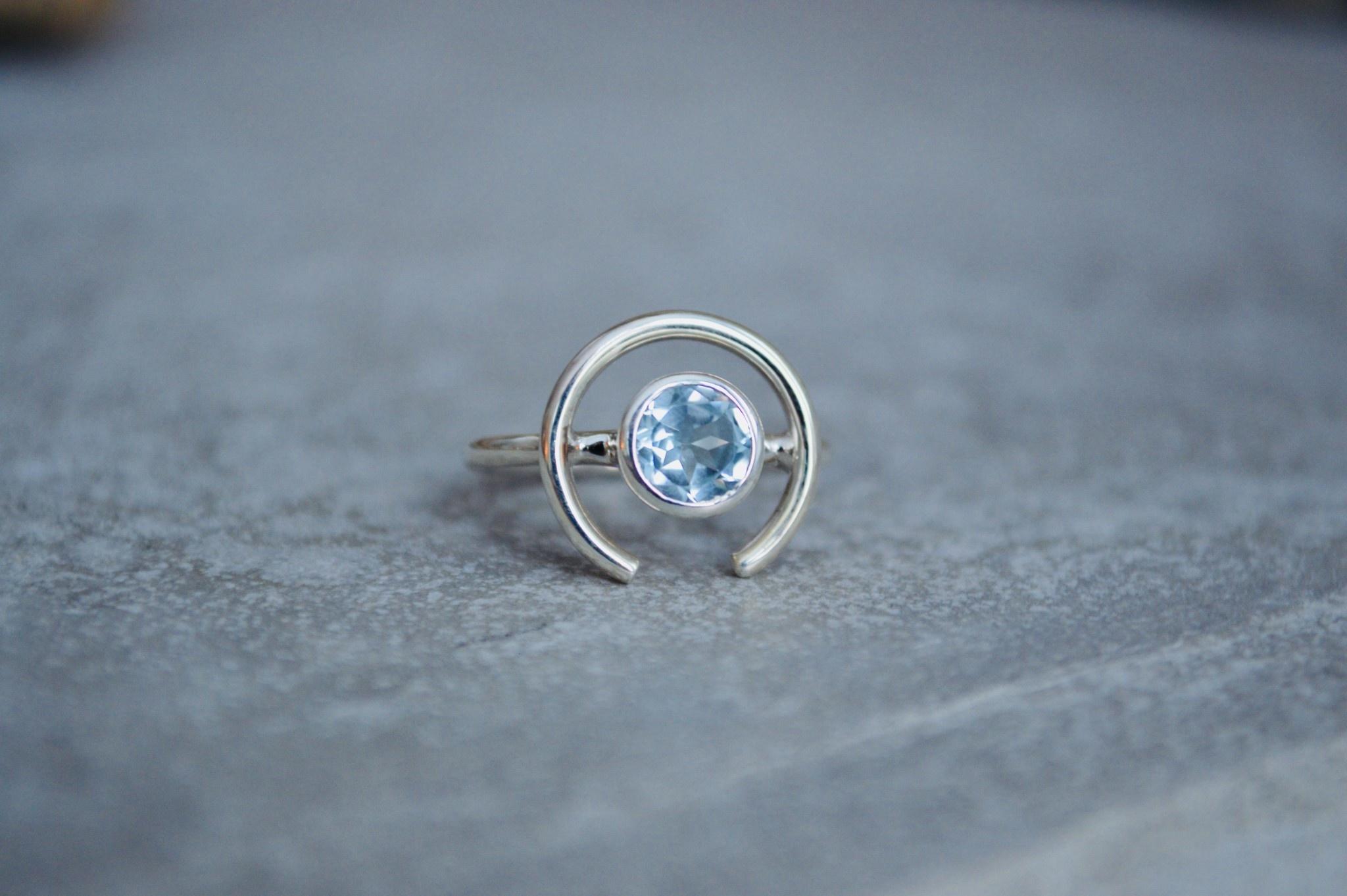 Blue Topaz Ring - size 7