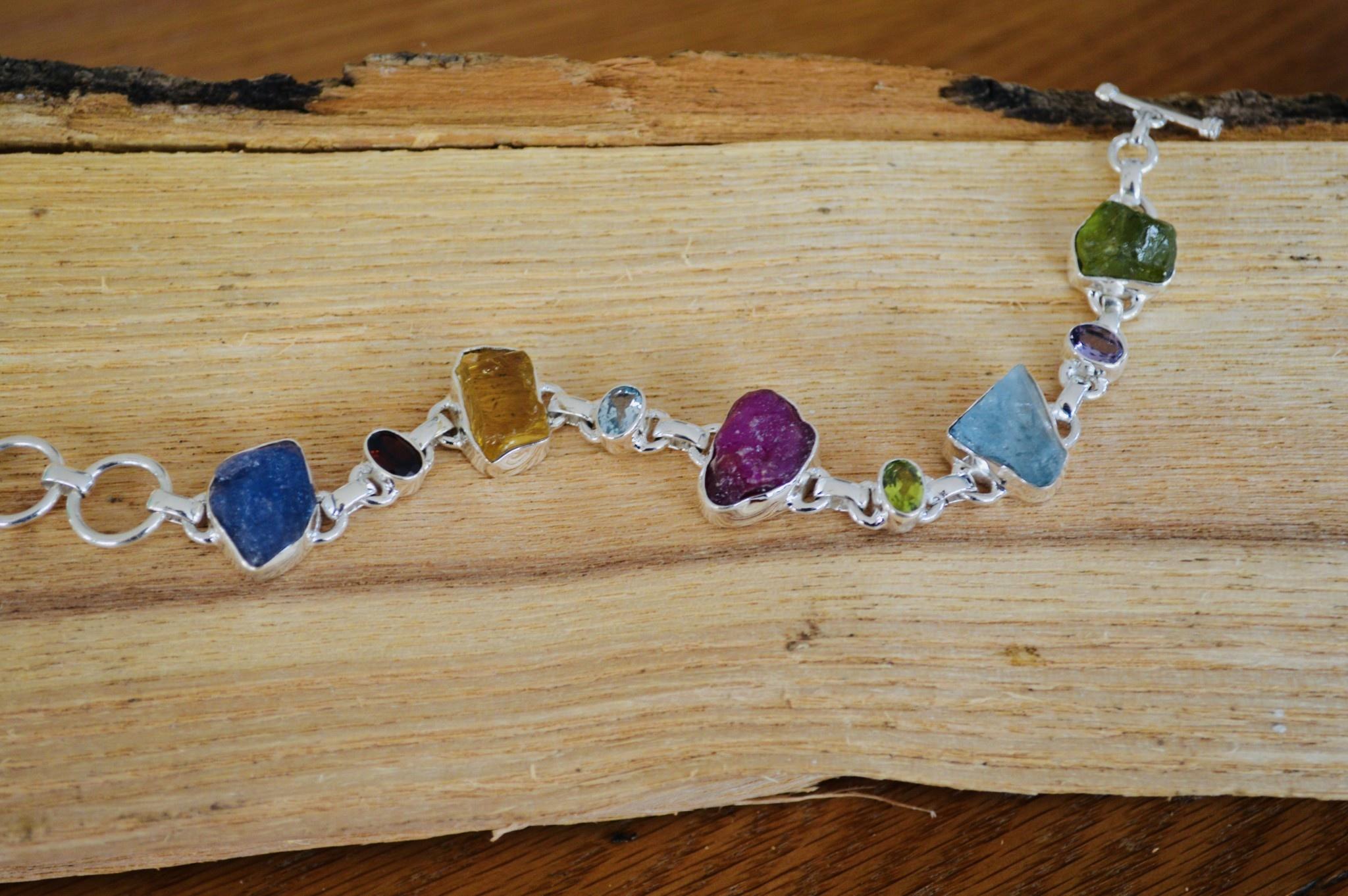 Rough Multi Stone Bracelet