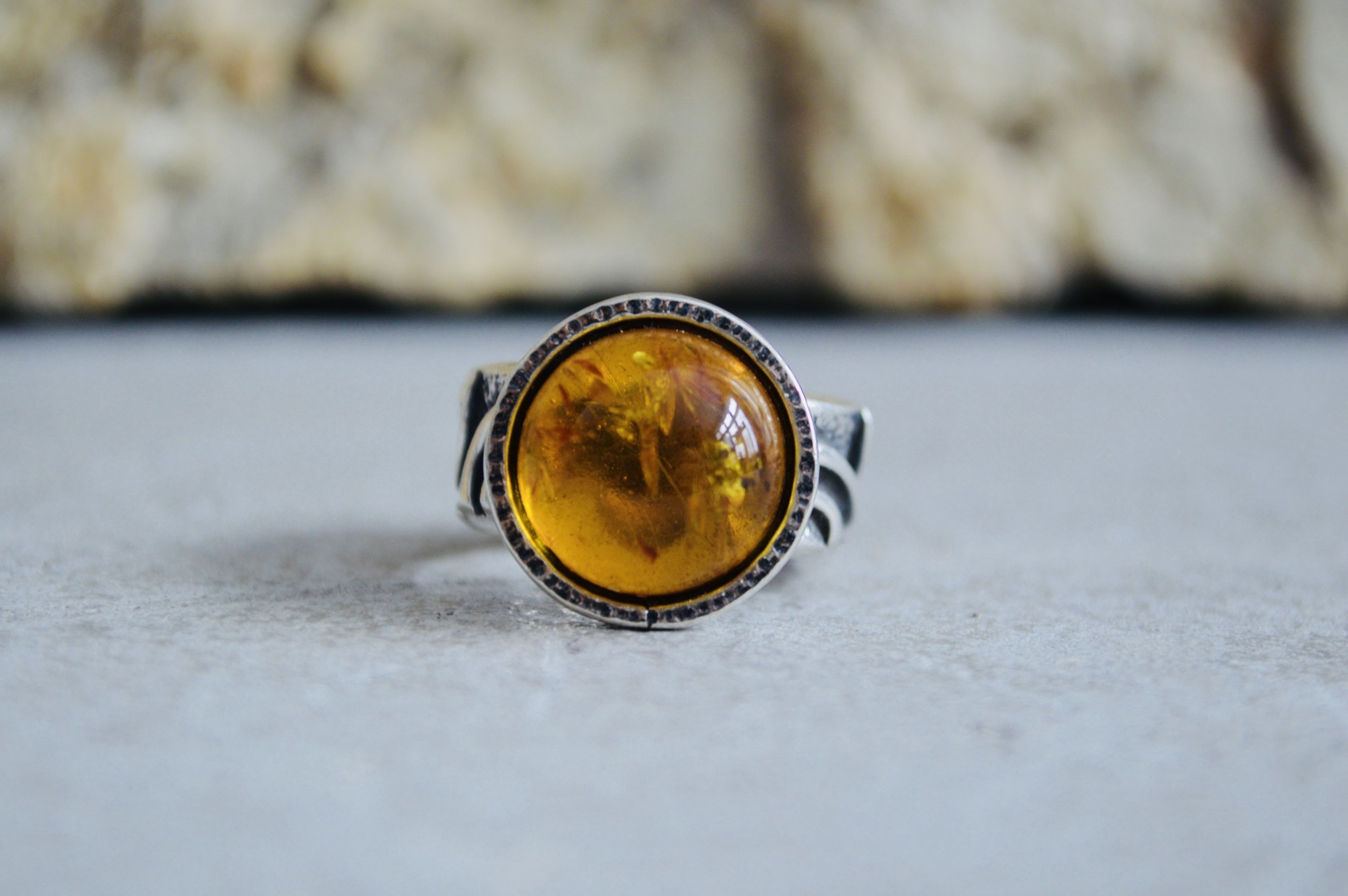 Irena Wastag Amber Ring - Size 8