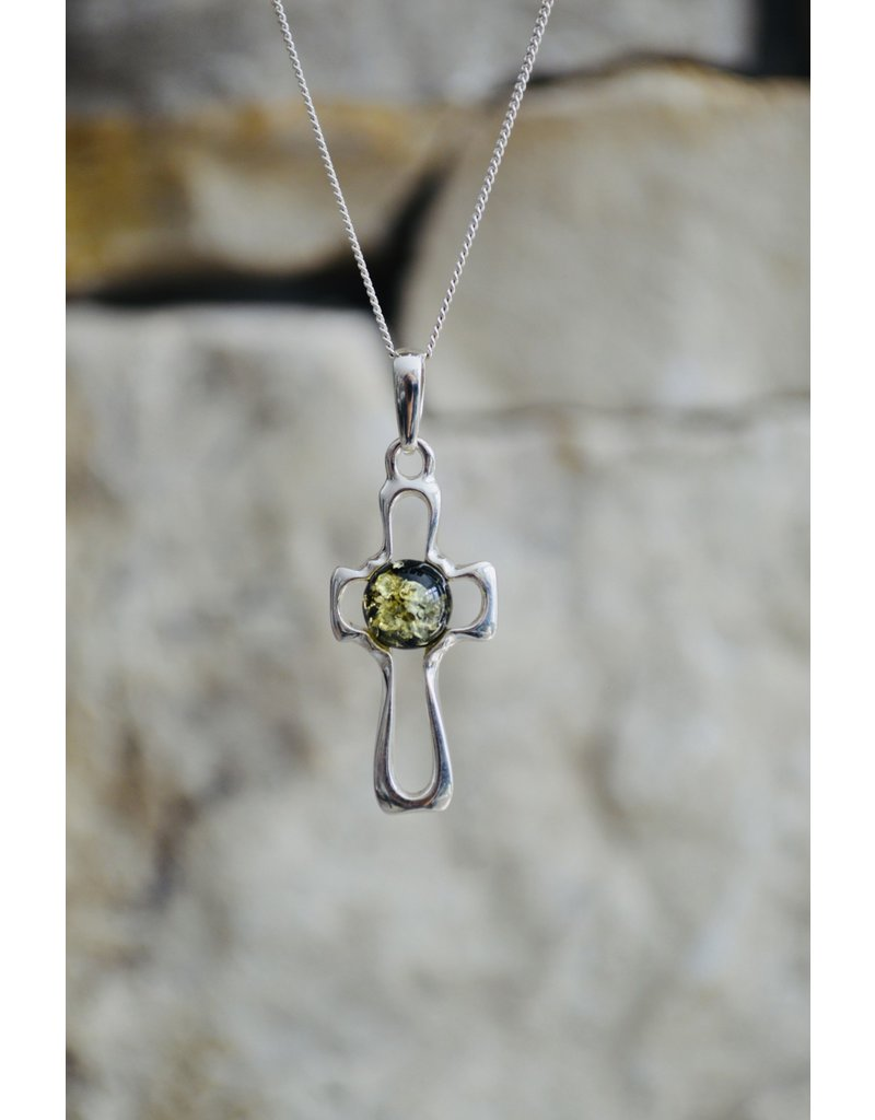 Green Amber Cross