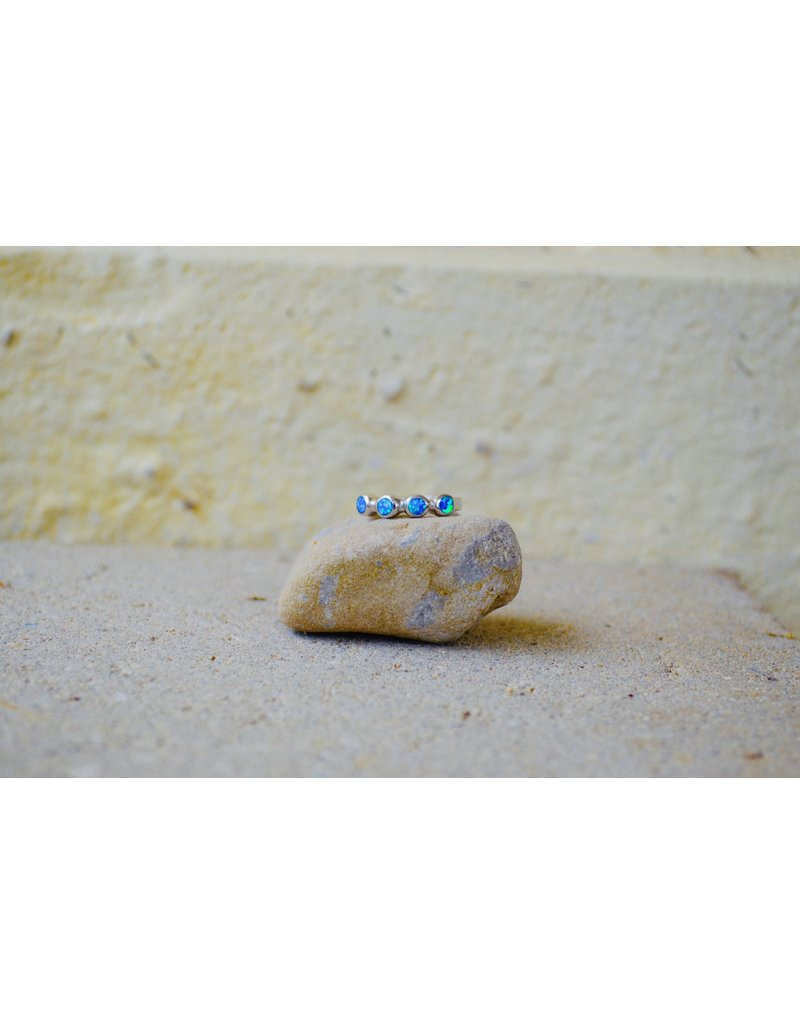Blue Opalite ball band - Size 7.5