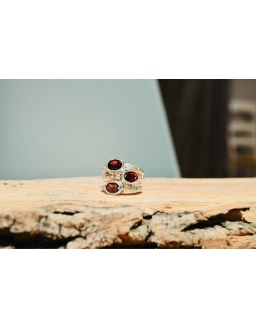 Rhodolite Garnet Ring - size 8.5