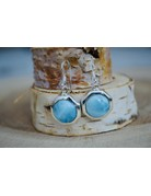 Larimar Octagon Earrings