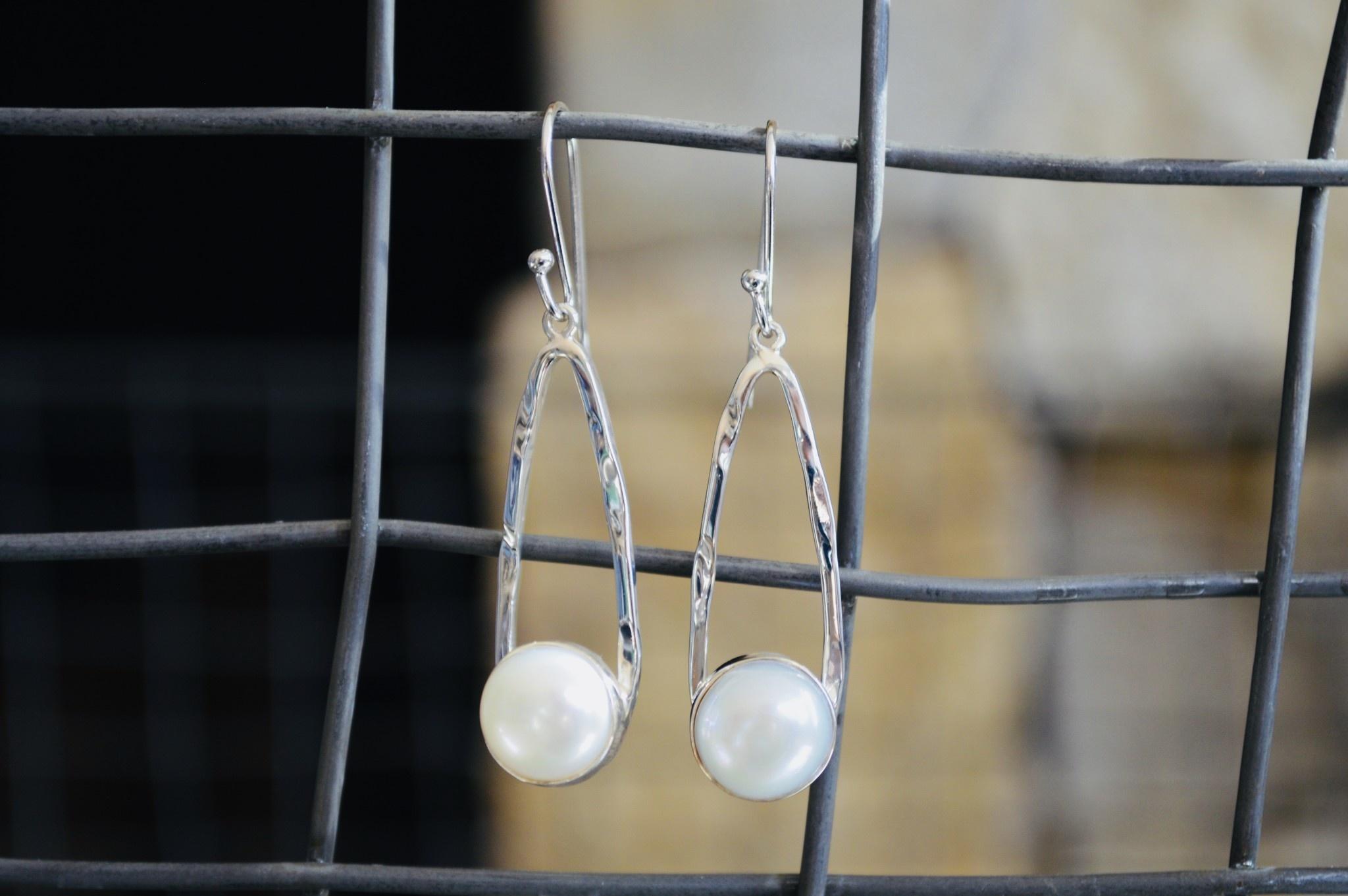 Pearl & Silver Earrings