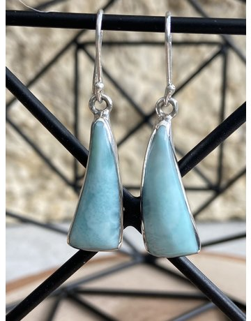 Triangle Larimar Earrings