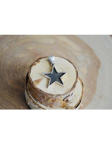 Oxidized Star Pendant