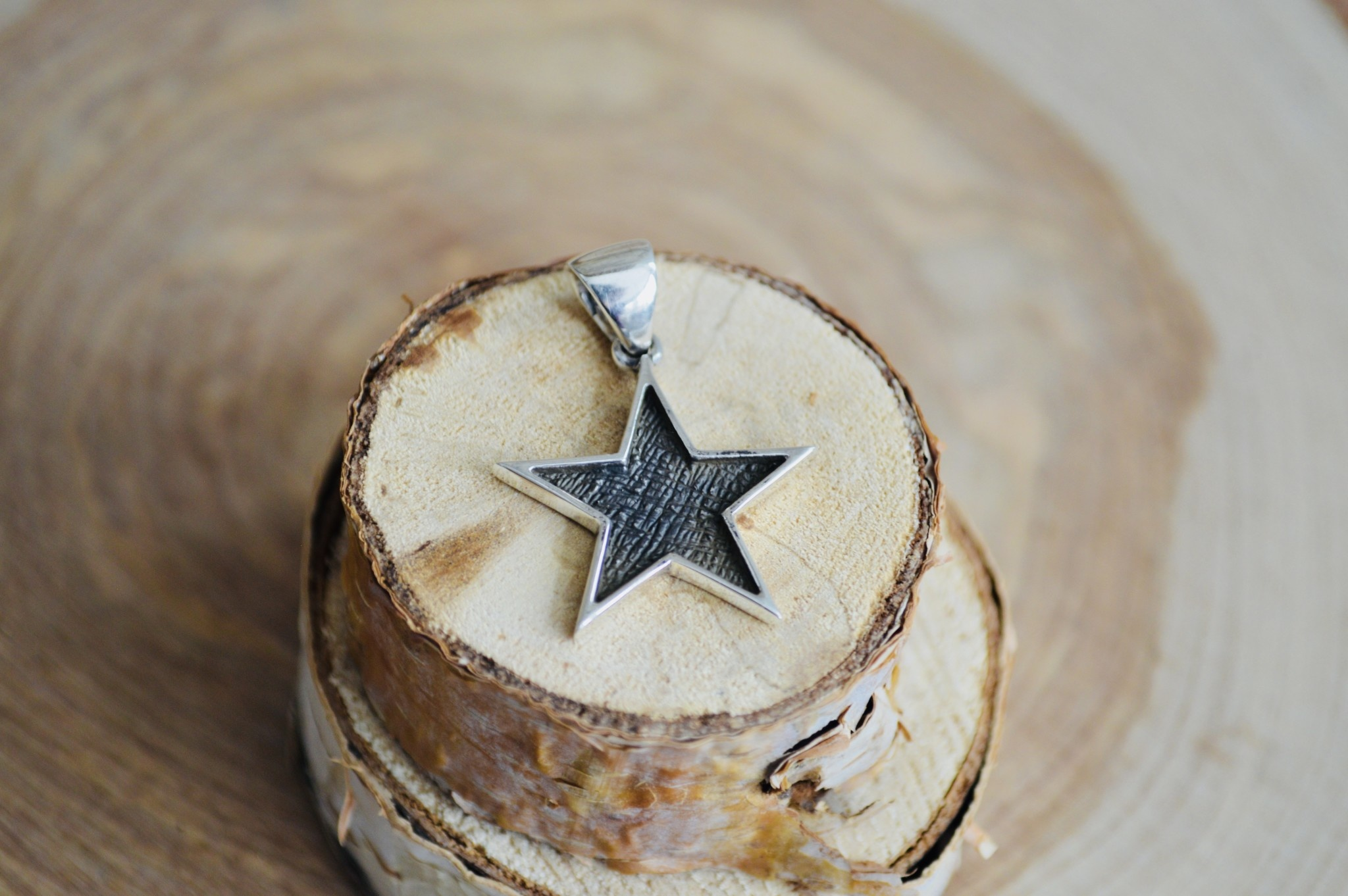 Oxidized Star Pendant