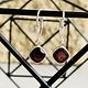 Square Drop Garnet Earrings