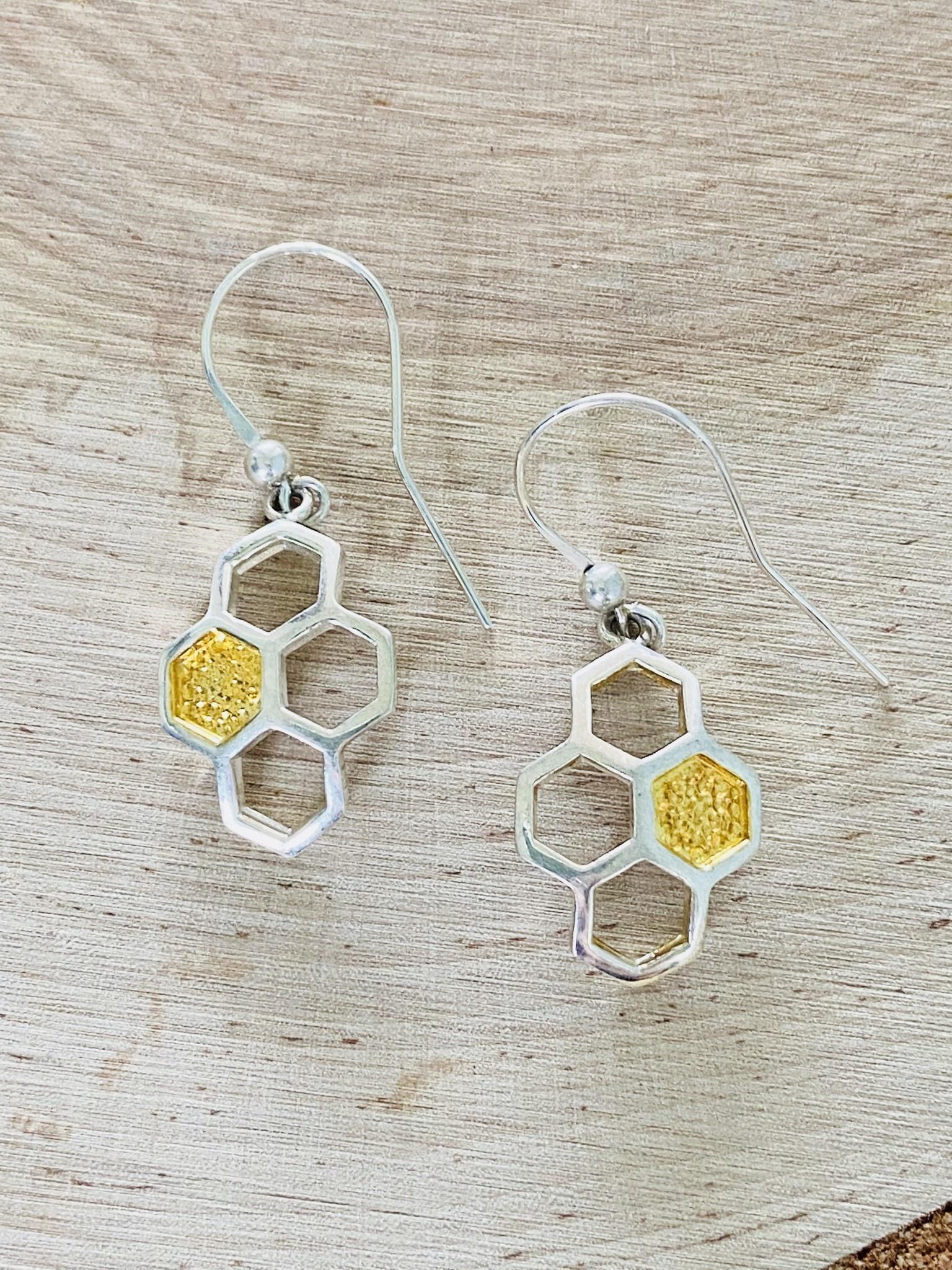 Sterling Honeycomb Earrings