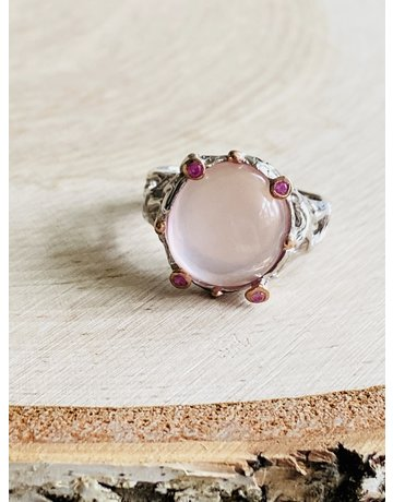Branch Rose Quartz Ring - Size 7