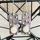 Pearl & Sterling Silver Rectangle Earrings
