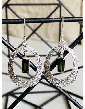 Green Tourmaline Drop Earrings