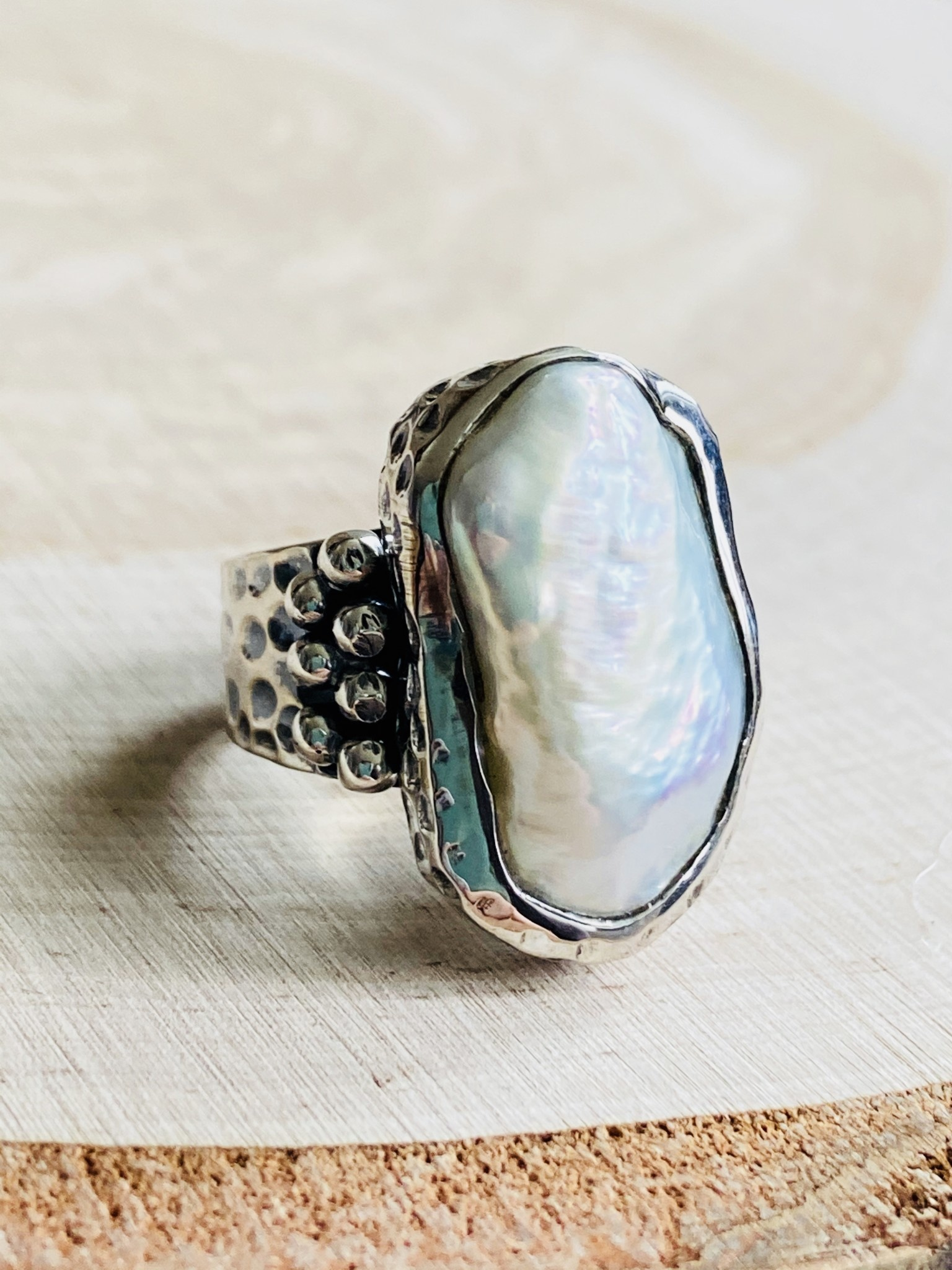 Baroque Pearl Ring - Size 7