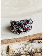 Multi Garnet Ring - Size 7