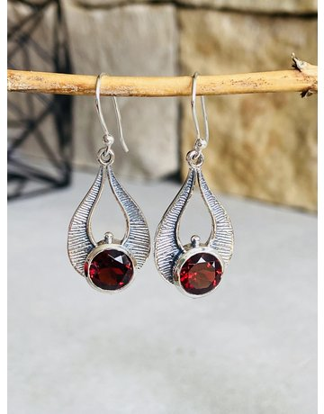 Garnet Pharaoh Earrings