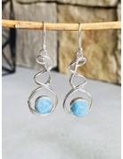 Larimar Twist Drop Earrings