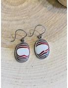 Oval Fordite Earrings