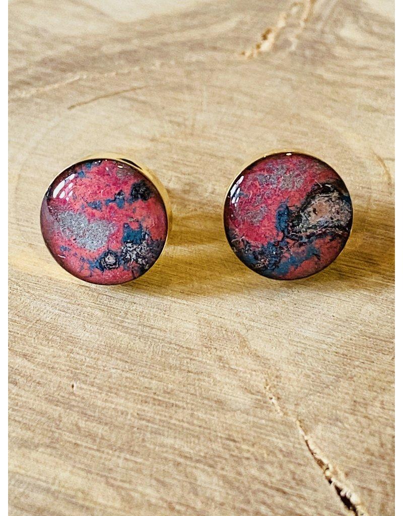 Brittany Brass Post Earrings