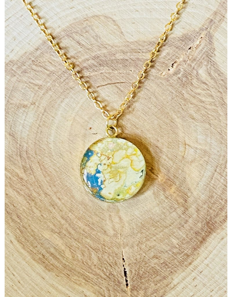 Rebel Nell Claudine Brass Necklace