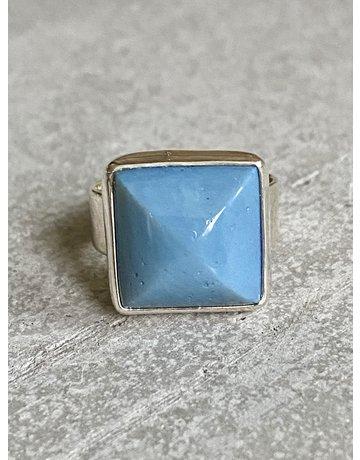 Square Leland Blue Ring - Size Adj