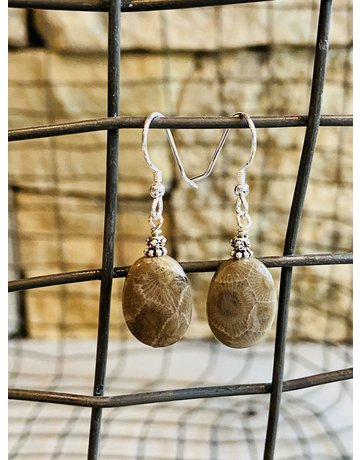 Petoskey Stone Drop Earrings