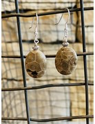 Petoskey Stone Dangle Earrings