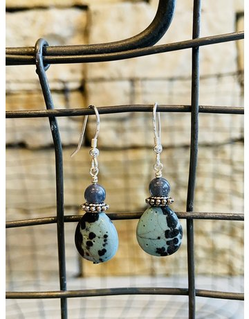 Leland Blue Tear Drop Earrings